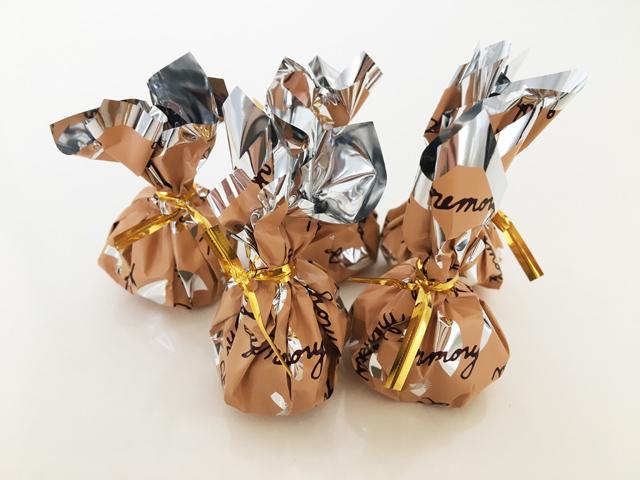 葉っぱのチョコ,オレンジの巾着,モンロワール,リーフメモリー,
