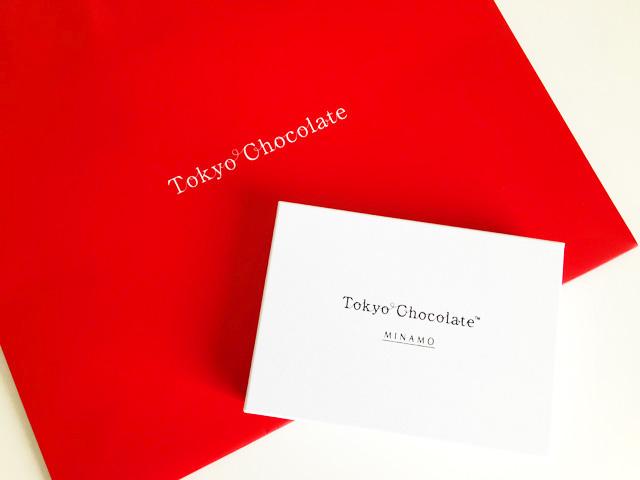トーキョーチョコレート,MINAMOのBOXと赤い紙袋,