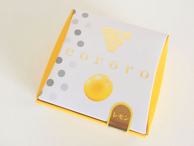 コロロ,レモン,黄色の外箱