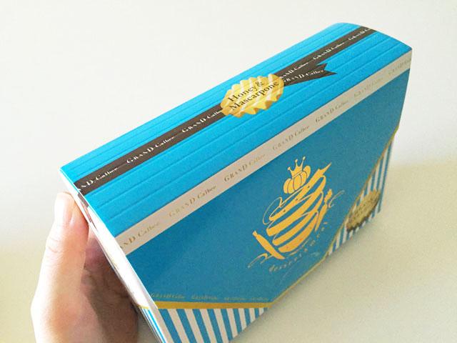 グランカルビ,ポテトビート,はちみつ&マスカルポーネ味,水色の外装ボックス