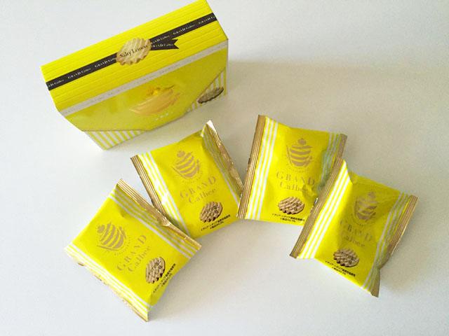 シチリアの塩とレモン味の外装箱と4袋のグランカルビポテトビート,