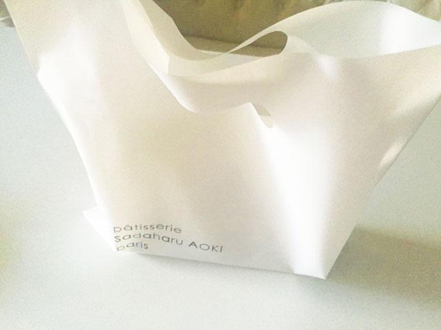 パティスリー・サダハル・アオキ・パリ,カヌレ,包装紙