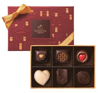 ゴディバ,バレンタイン,2020,チョコレート クロニクル シック アソートメント,6粒入り,