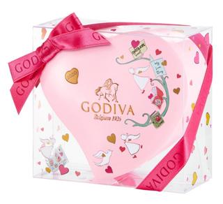 ゴディバ,バレンタイン,2020,G キューブ アソートメント,ミニハート缶,5粒入り,