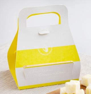 CheeseCheeseChocolateCheese,北海道チェダー生チョコレート,黄色と白の手提げ型のパッケージ,16粒入,税込1620円,バレンタイン,2021,チョコレート,Valentine,chocolate,