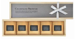 グラマシーニューヨーク,5個入のシャンパーニュブラウニーの箱,税込1620円,箱寸=6.6×24.7×4.9㎝,バレンタイン,2021,チョコレート,GRAMERCY NEWYORK,Valentine,chocolate,