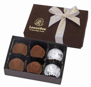 レオニダス,トリュフギフトボックス6P,税込1800円,本体価格1667円,バレンタイン,2021,チョコレート,Valentine,chocolate,Leonidas,