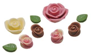 メサージュ・ド・ローズ,ロズレ・パルフェに入っている薔薇の形のチョコレート,バレンタイン,2021,メサージュドローズ,MESSAGE de ROSE,チョコレート,Valentine,chocolate,
