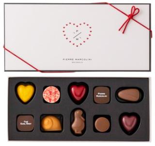 ピエールマルコリーニ,バレンタイン セレクション 10個入,税込3,780円,白箱,バレンタイン,2021,チョコレート,PIERRE MARCOLIN,Valentine,chocolate,