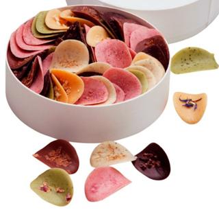 ショウダイビオナチュール,ミルティペタル,丸い円形のBOXに花びらのようなチョコレートが入っている,ホワイトデー,2021,チョコレート,shoudai bio nature,Whiteday,chocolate,