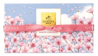 ゴディバ,サブレショコラ 桜 5個入のパッケージ,箱寸=9.3×16.7×5.3cm,本体価格1600円,ホワイトデー,2021,GODIVA,Whiteday,