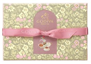 ゴディバ,ティータイム アソートメント 6粒入のパッケージ,箱寸=9.4×13..9×3.4cm,本体価格2000円,ホワイトデー,2021,チョコレート,GODIVA,Whiteday,chocolate,