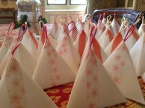 les boites de dragées en Origami