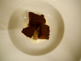 ①ムース・ショコラ+モワルー・ショコラ