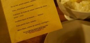 La carte de dessert de chez L'ami jean