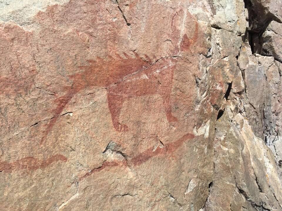 Les Pictogrammes du rocher Agawa au Lac Supérieur
