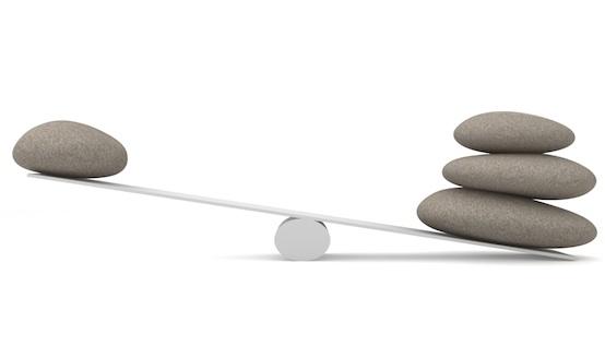 balance en pierre