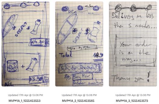 prototype croquis sur le papier