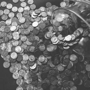 pieces argent economies shopping enfant
