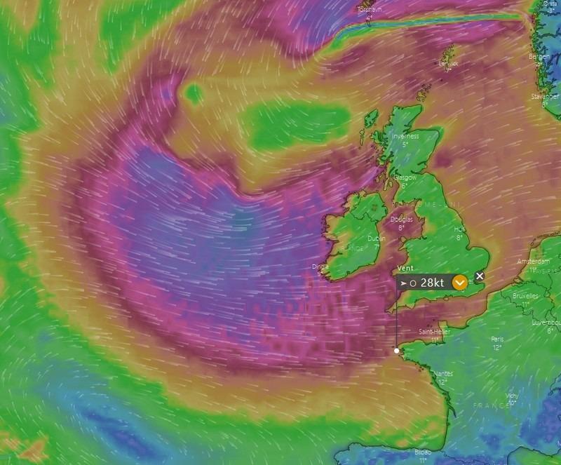 windy mer d'Iroise