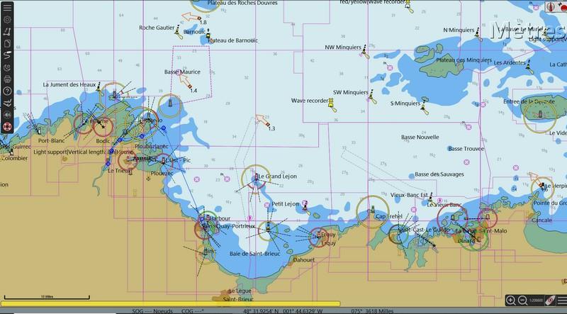 navigation vers île de Bréhat