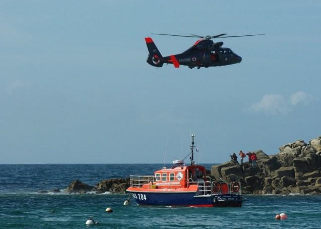 opération de sauvetage en mer