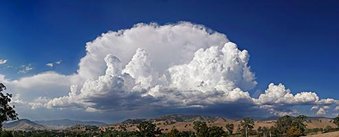 cumulus annonciateur d'un grain en mer