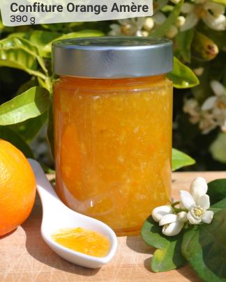 Confiture Orange Amère 390g - LES VERGERS DE BOIRIE A MENTON
