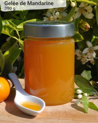 Gelée de Mandarine 390g - LES VERGERS DE BOIRIE A MENTON