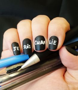 Ongles je suis charlie