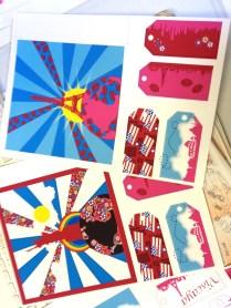 planches cartes postales etiquettes