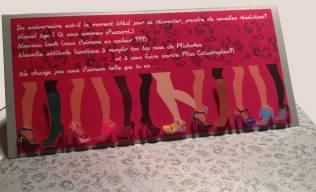 """Carte anniversaire pour une """"shoes addict"""""""