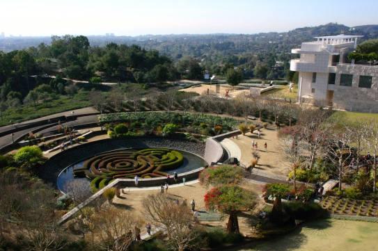 Le splendide jardin du Getty