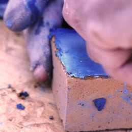 Préparation de briques stuquées - Les adobes