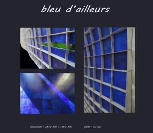 Tableau bleu d ailleurs - Les adobes