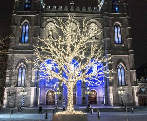 Notre-Dame Basilica Holiday decorations
