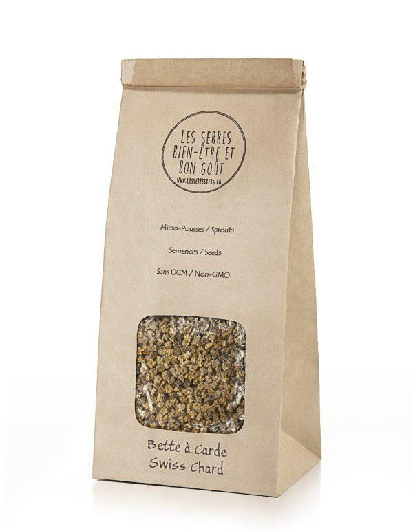 Nos semences de Bette à Carde biologiques et sans OGM, vous pouvez maintenant vous les procurer en plusieurs formats et faire vos pousses à la maison.
