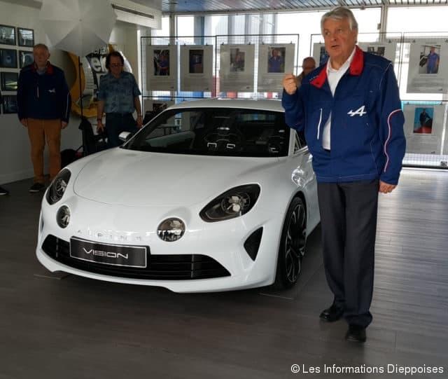 L'Alpine Vision présentée à l'usine de Dieppe