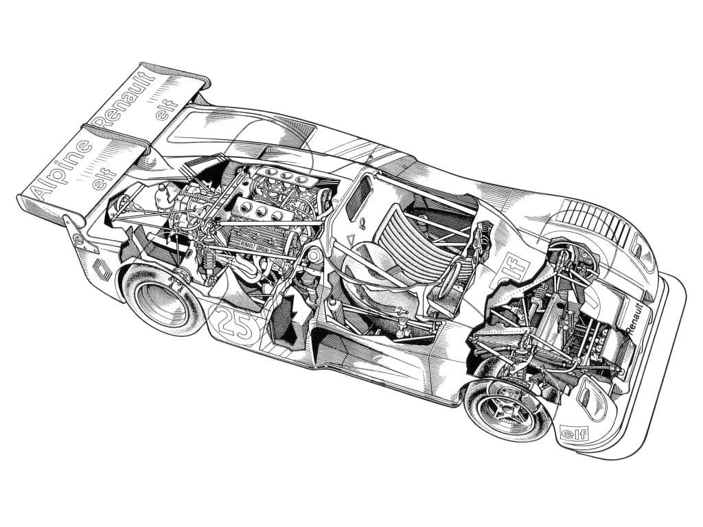 Alpine A441 1974 ecorche cutaway | Les écorchés Alpine pour révéler tous leurs secrets !