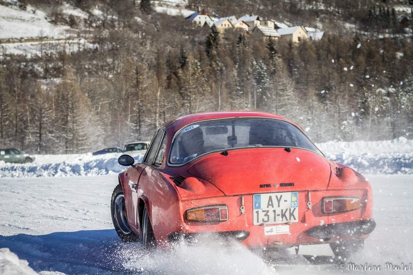 Alpine A110 A310 Orcières piste glace marlene moutet 13 | Des Alpine et 1000 mètres de piste sur glace !