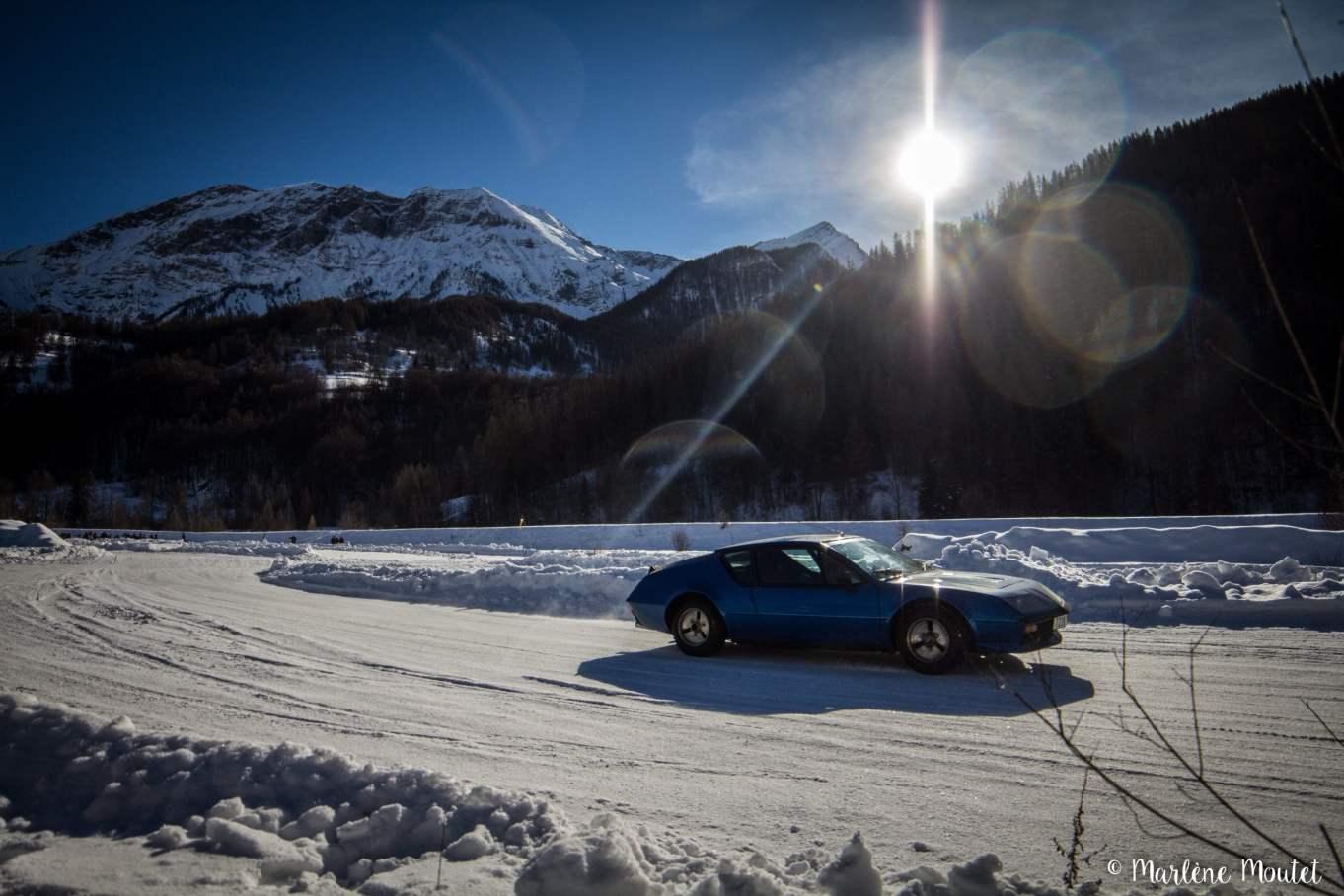 Alpine A110 A310 Orcières piste glace marlene moutet - 21