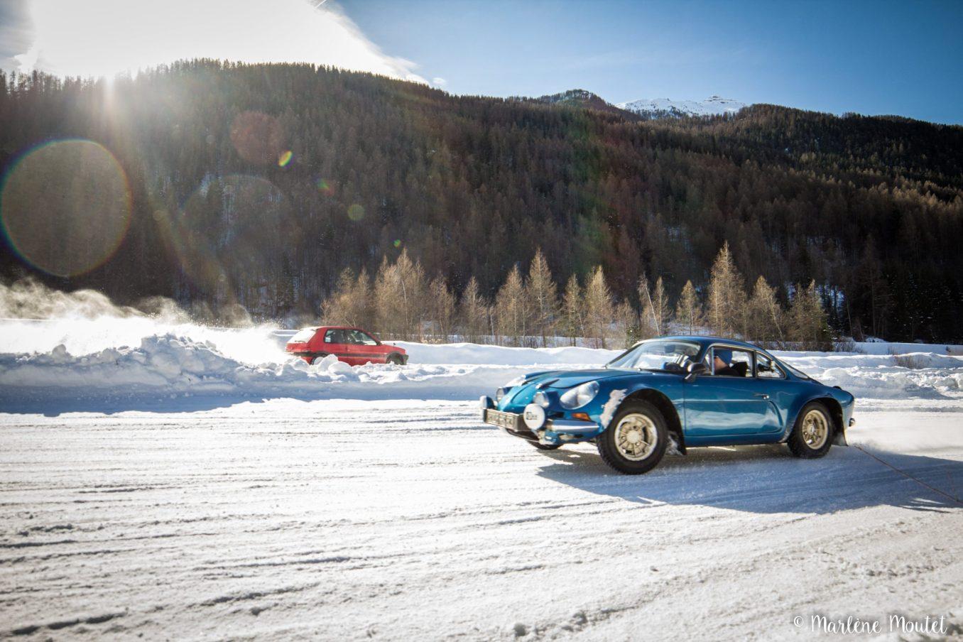 Alpine A110 A310 Orcières piste glace marlene moutet 45 scaled | Des Alpine et 1000 mètres de piste sur glace !