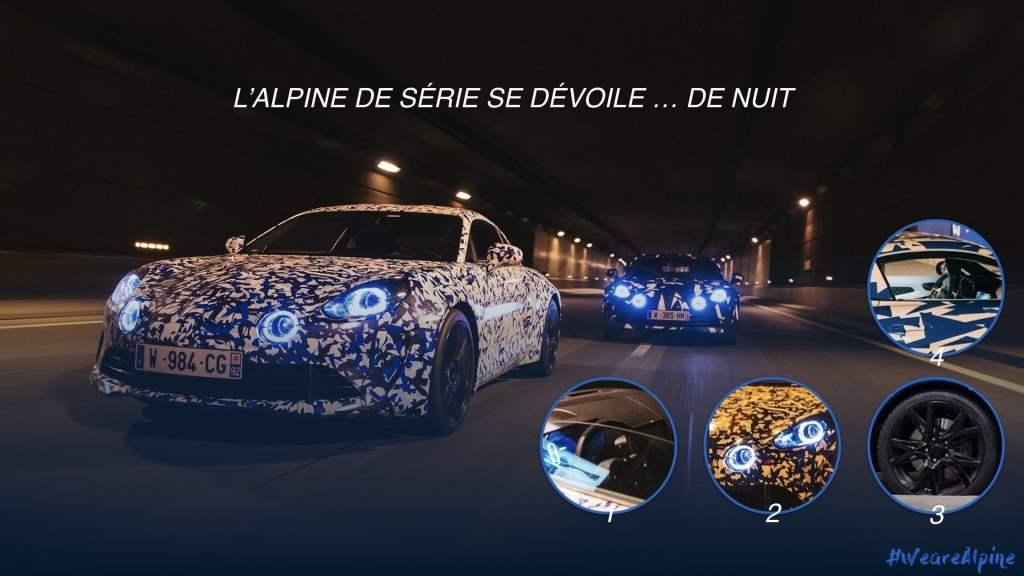Alpine A110 AS110 décrytptée nocturne | L'Alpine A110 / AS110 en virée nocturne à Paris