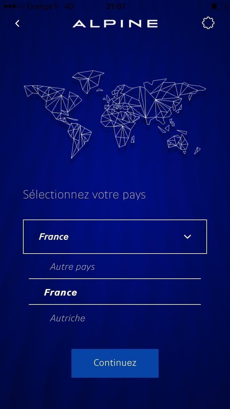 Réserver Alpine A110 iOS Android iTunes mobile - 7