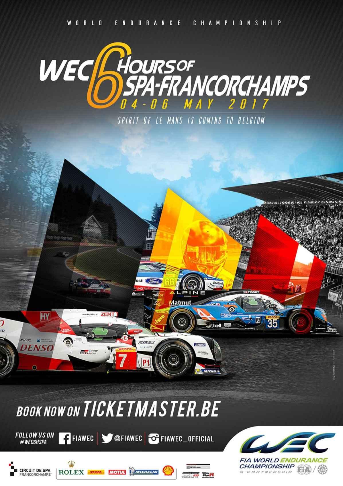 Affiche Spa Francorchamps Alpine Signatech WEC 2017 - 4