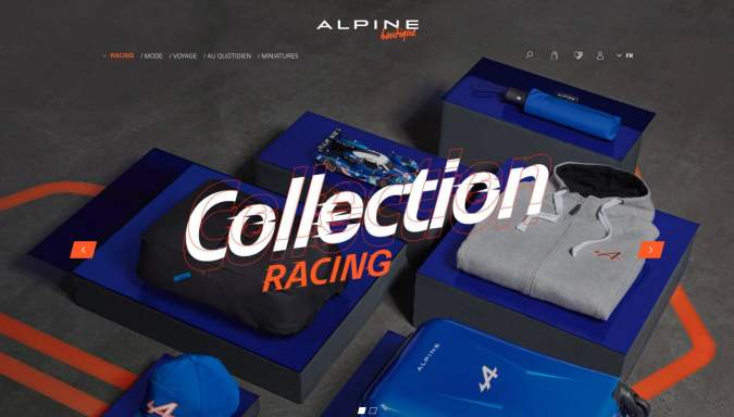 Boutique en ligne Alpine Cars Store Elegance Racing Signatech miniatures sacs bagages vêtements - 14