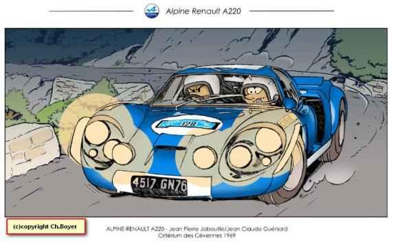 Chris Boyer portfolio Alpine A106 A110 A220 A310 GTA BD Dessin (2)