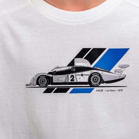 tee shirt enfant blanc 4 Alpine Collection 1978 boutique anniversaire 40 ans 24 heures du mans