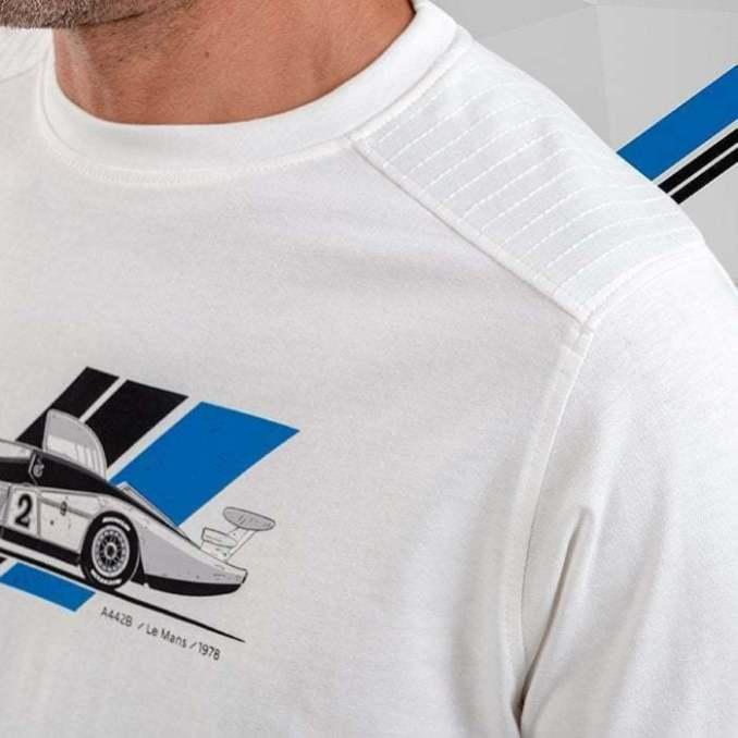 tee shirt homme blanc 4 Alpine Collection 1978 boutique anniversaire 40 ans 24 heures du mans
