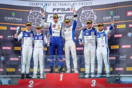 FFSA GT4 Alpine A110 Pierre Sancinena Magny Cours CMR victoire (5)